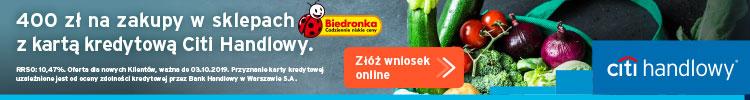400 zł do Biedronki z kartą Citi Simplicity
